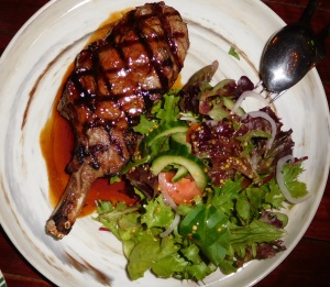 6char-grilled northern rivers rib eye with garden salad & red wine jus