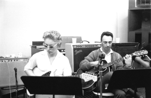 MONTREAL, QUE.: June 05, 2012 -- (UNDATED) - Carol Kaye and Bill Pitman on guitar at Gold Star, circa 1963. Courtesy of GAB Archive/Redferns. Fom The Wrecking Crew, by Kent Hartman from Raincoast Books.